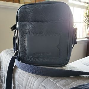 Lacoste Blue Leather Camera Bag